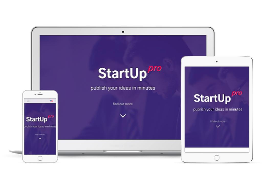 startup pro mockup